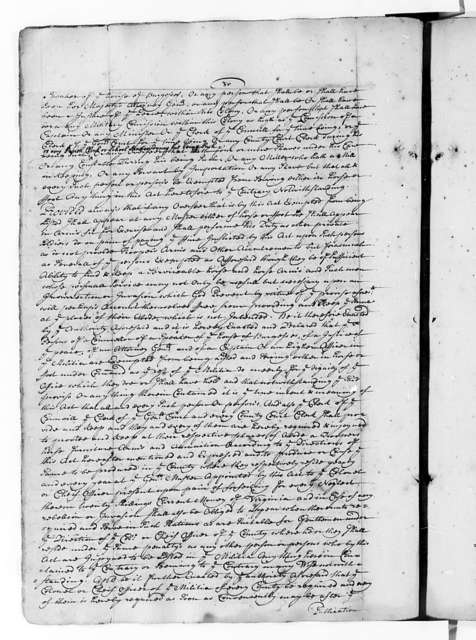 Virginia, 1705, Laws (Charles City Manuscript)