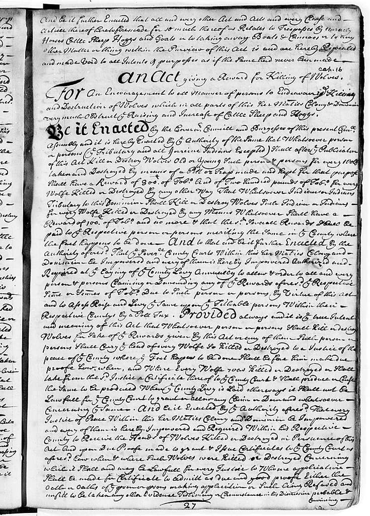 Virginia General Assembly, 1705-11, Laws (The John Page Manuscript)