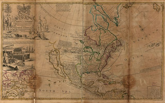 This map of North America.