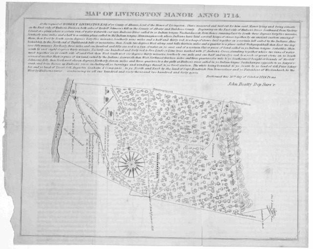 Map of Livingston Manor Anno 1714.