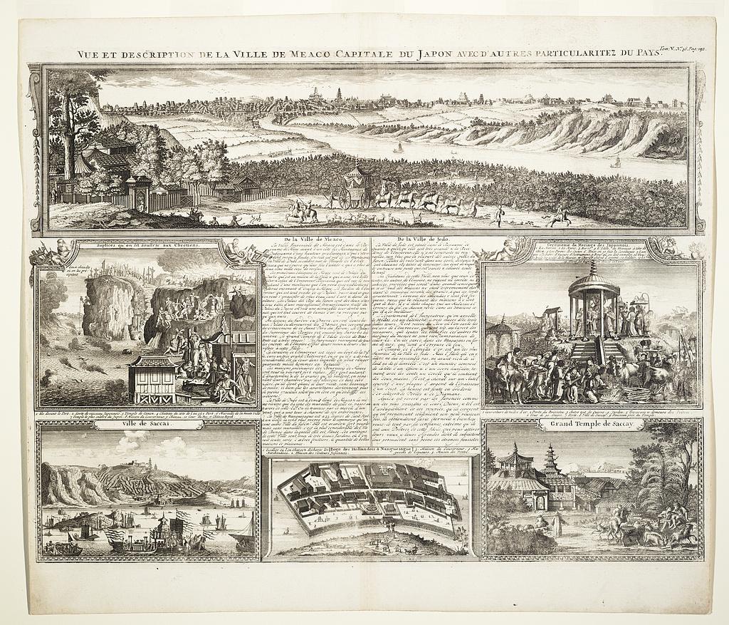 Vue et description de la ville de Meaco capitale du Japon avec d'autres particularitez du pays