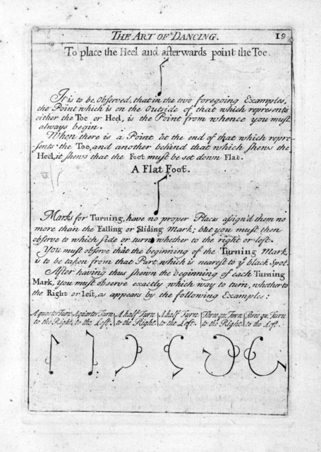 Orchesography; or, The art of dancing by characters and demonstrative figures. Wherein the whole art is explain'd; with compleat tables of all steps us'd in dancing, and rules for the motions of the arms, &c. Whereby any person (who understands dancing) may of himself learn all manner of dances.