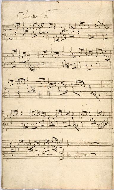 """Freu dich sehr o meine Seele, cum 12 Variationibus di Johann Pachelbel"", Apr. 1716"