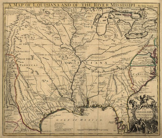 A map of Louisiana and of the river Mississipi [i.e. Mississippi] : this map of the Mississipi [i.e. Mississippi] is most humbly inscribed to William Law of Lanreston, esq. /