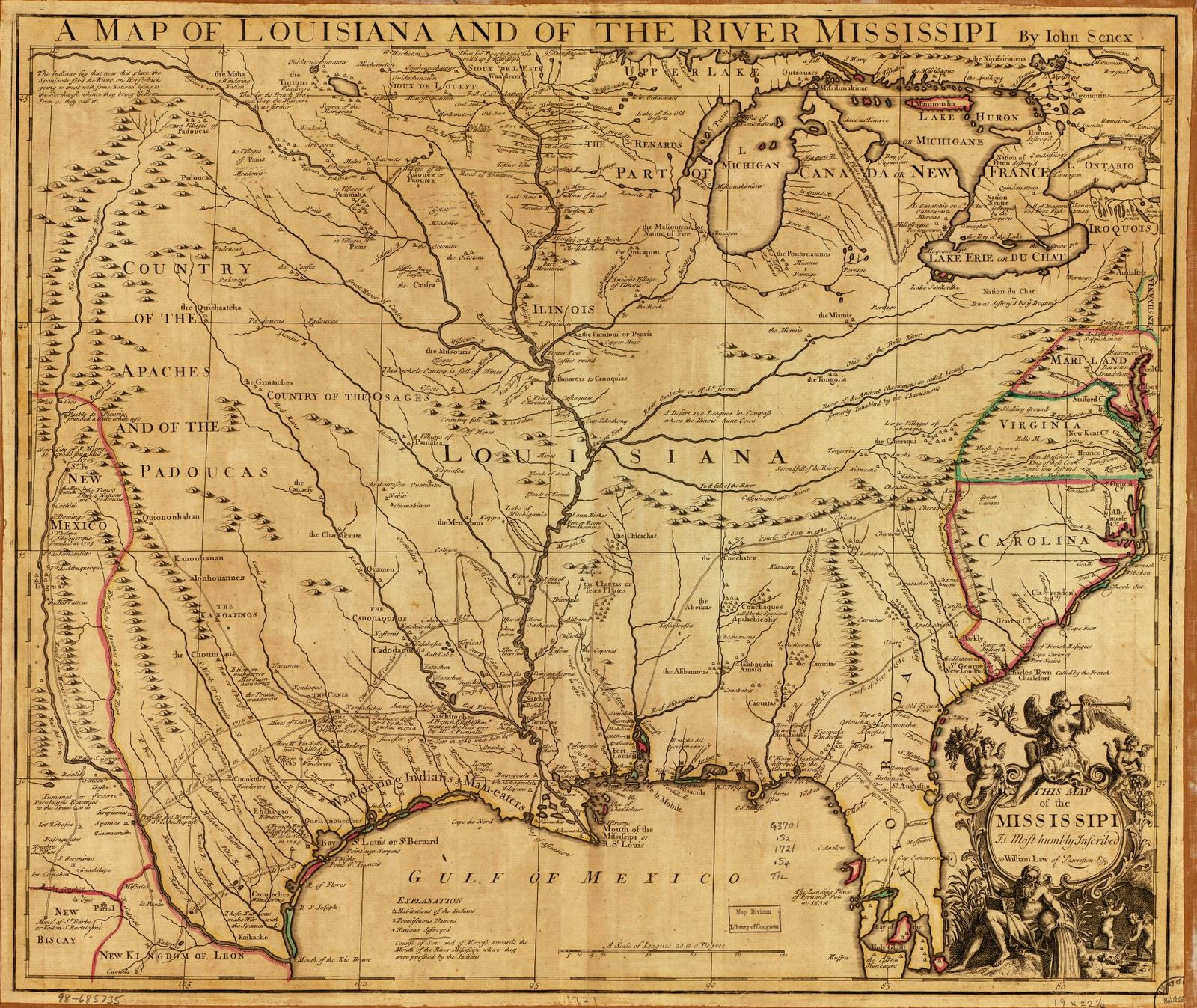 A Map Of Louisiana And Of The River Mississippi Picryl