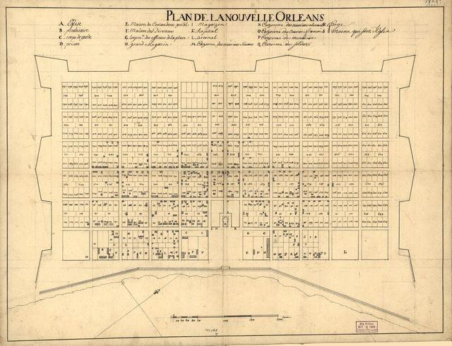 Plan de la Nouvelle Orleans.