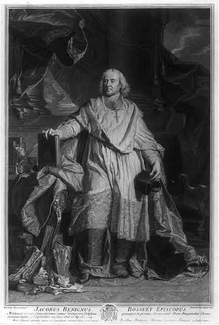 Jacobus Benignus Bossuet, Episcopus / Hyacinthus Rigaud pinxt. ; Petrus Drevet sculpsit.