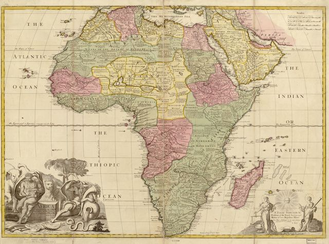 Africa : corrected from the observations of the Royal Society at London and Paris. /