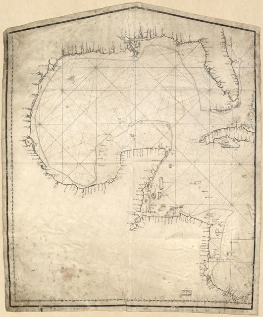 [Map showing Gulf of Mexico including western portion of Caribbean area].