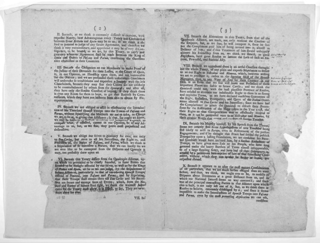 The Lords protest on the treaty of peace, union and friendship, between Great-Britain, France and Spain; concluded at Seville on the 9th of November last … Boston Printed: and sold by B. Eliot, in Kingstreet, and T. Fleet, in Pudding-Lane 1730.
