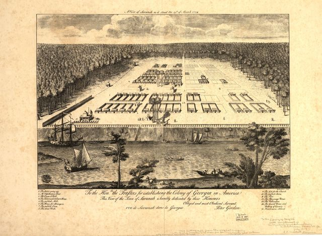 A view of Savannah as it stood the 29th of March 1734.