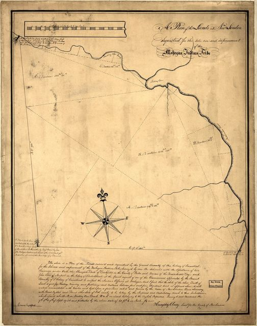 A plan of the lands in New London sequestred for the sole use and improvement of the Mohegan Indian tribe /