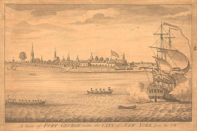 A view of Fort George with the City of New York from the SW / I. Carwitham, sculp.