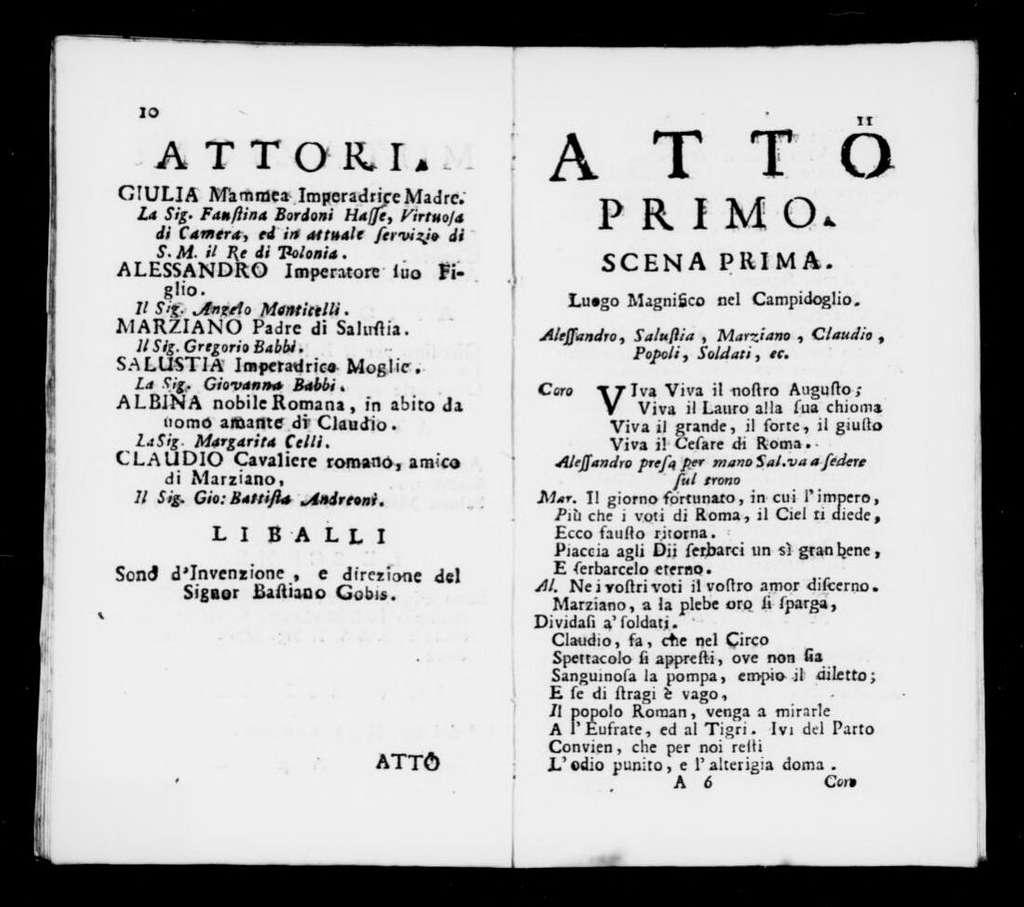 Alessandro Severo. Libretto