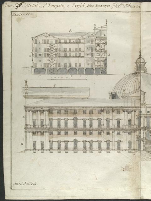 Dissegni originali dell' edizione di Palladio di Giorgis Fossati.