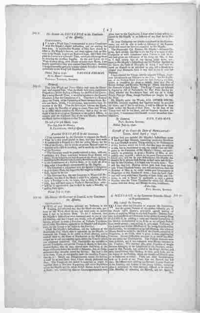 Pennsylvania. Several proceedings in the two late sittings of Assembly, on the affair of raising money, men &c. for the expedition now on foot against the Spanish West-Indies. [Philadelphia 1740].