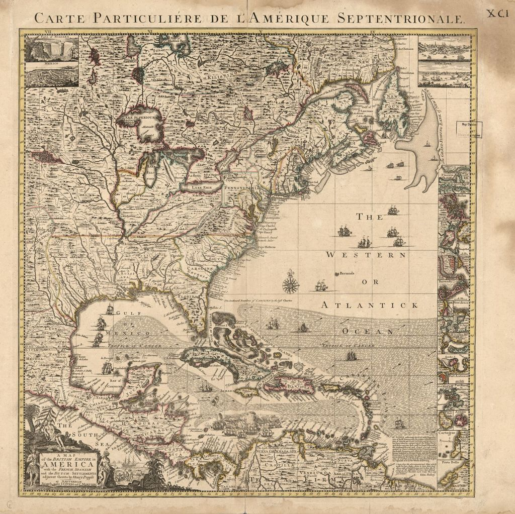 A map of the British empire in America with the French, Spanish and the Dutch settlements adjacent thereto /