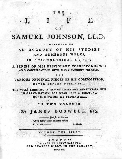 [Title page for The Life of Samuel Johnson]