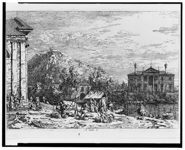 [The market at Dolo] / A. Canal., f.