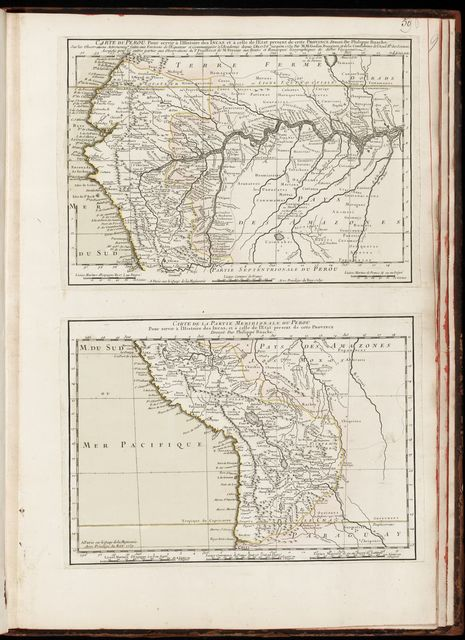 Cartes et plans de l'Amerique.