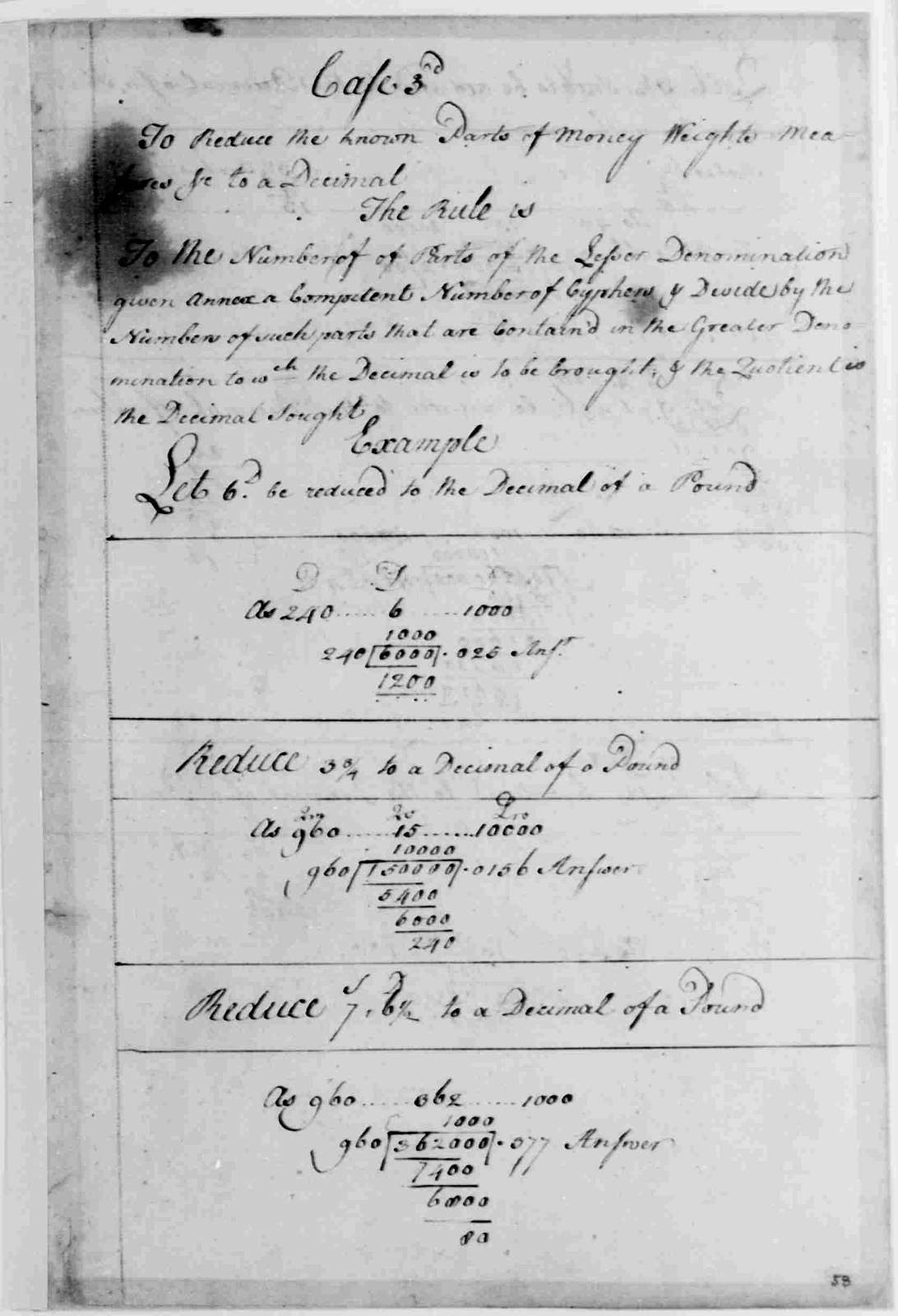 George Washington Papers, Series 1, Exercise Books, Diaries, and Surveys 1745-99, Subseries 1A, Exercise Books 1745-1747: School Copy Book, Volume 1, 1745