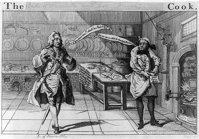 The Duke of N- - -tle and his cook