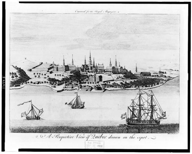 A perspective view of Quebec drawn on the spot / Hulett fecit.