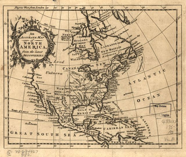 An Accurate map of North America from the latest discoveries.