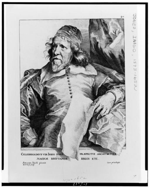 Celeberrimus fir Inigo Iones ... / ant. van Dÿck pinxit ; R.V. Vorst sculp.