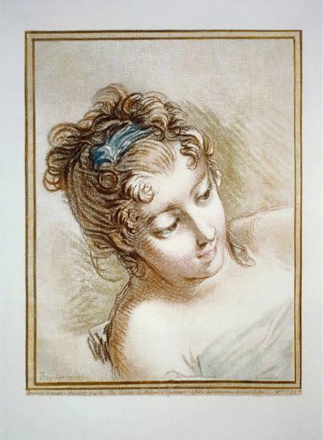 [Head of a woman] / Boucher in del.; Demarteau sc.