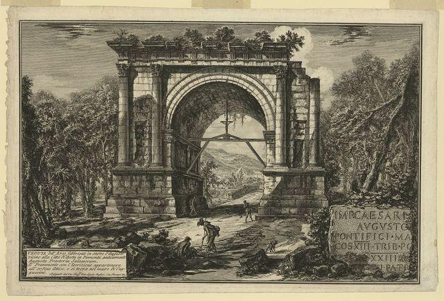 Veduta dell'Arco fabbricato in onore d'Augusto ...
