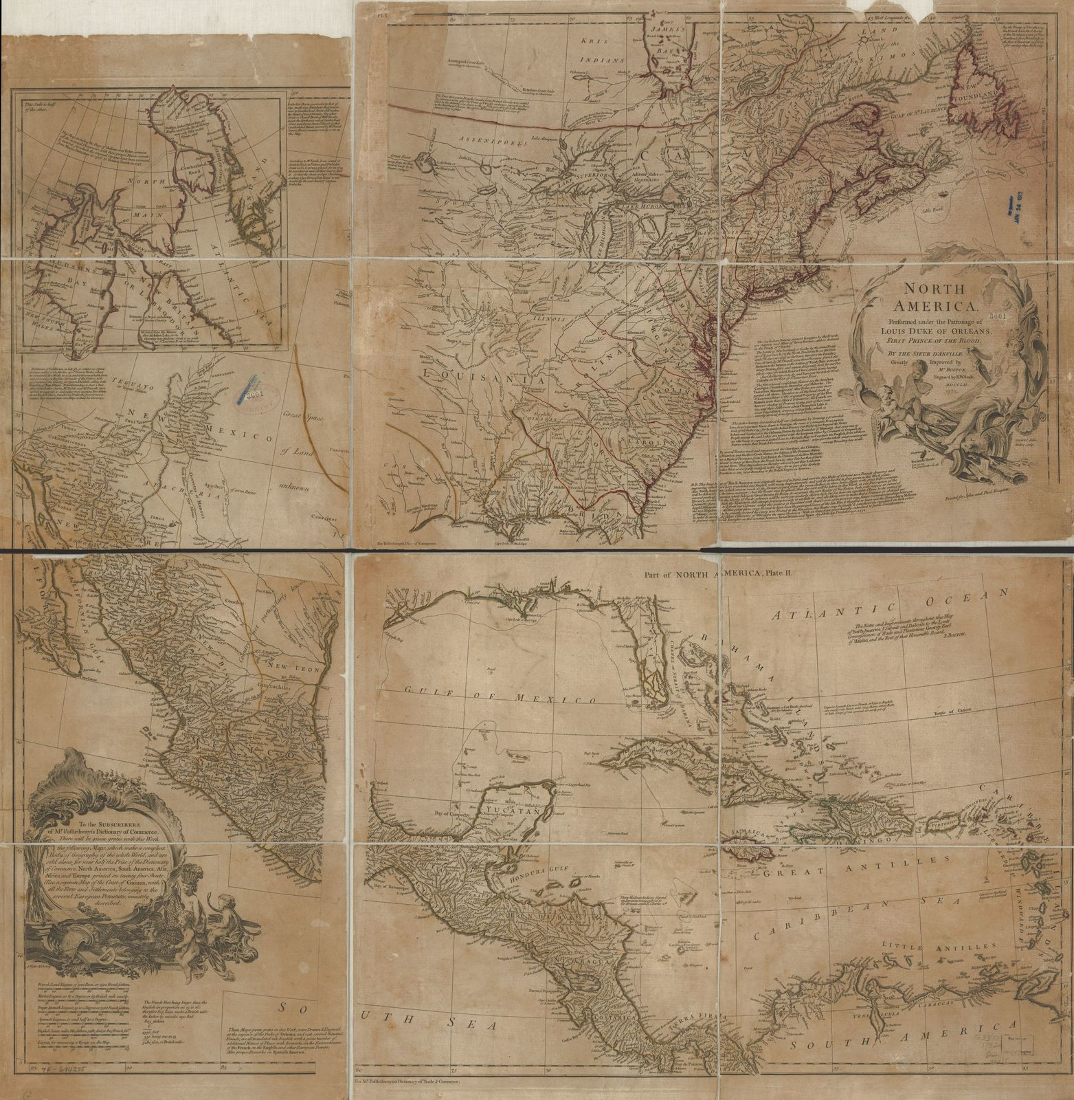 North America, performed under the patronage of Louis Duke of Orleans, First Prince of the Blood;