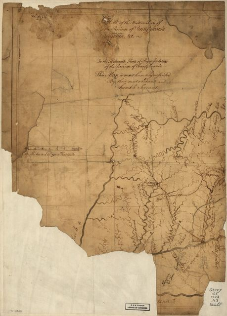 A Map of the western parts of the province of Pennsylvania, Virginia, &c.