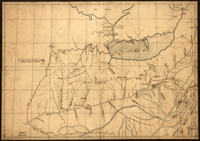 [A trader's map of the Ohio country before 1753.