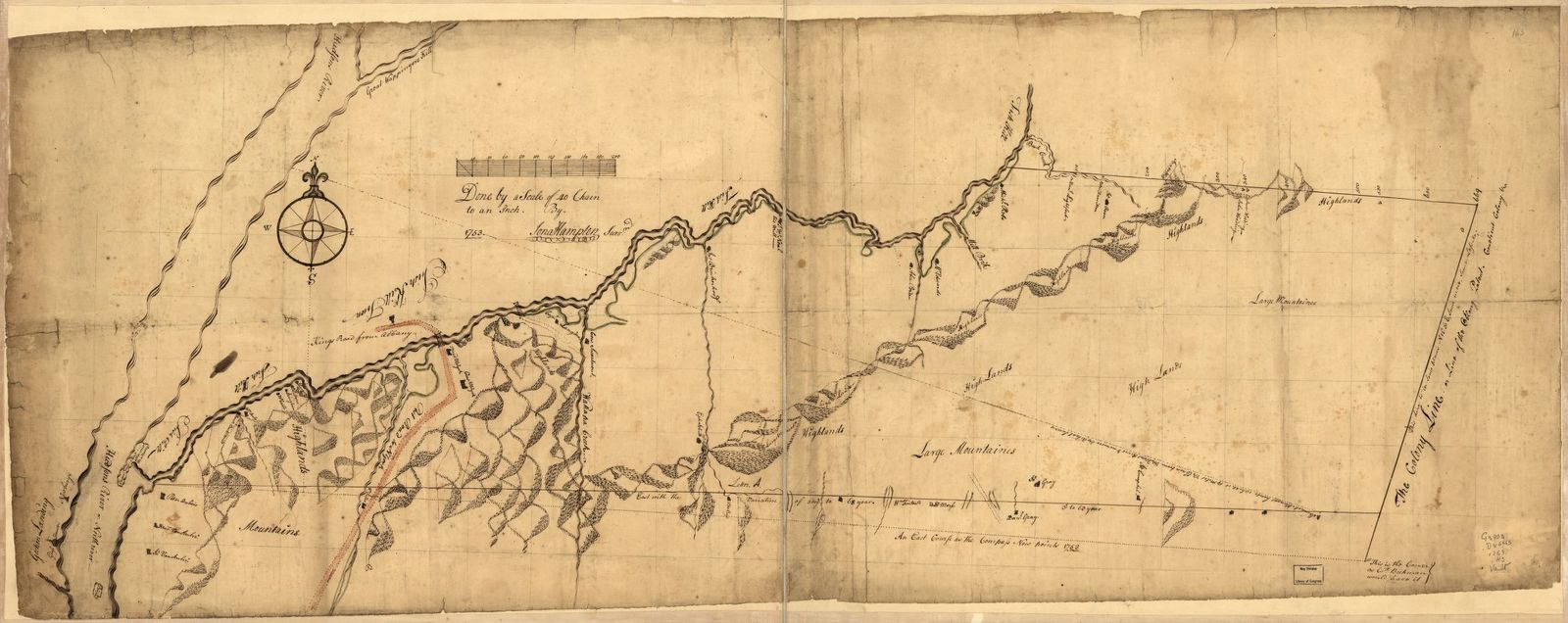 Draft of the lands disputed by Philipse Patent against Beekmans & Rambaults.
