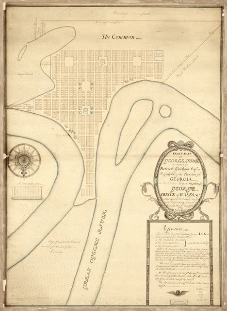 An exact-plan of George-Town so named by Patrick Graham, Esqr., President of the Province of Georgia, in honr. to His Royal Highness George, Prince of Wales, &ca.