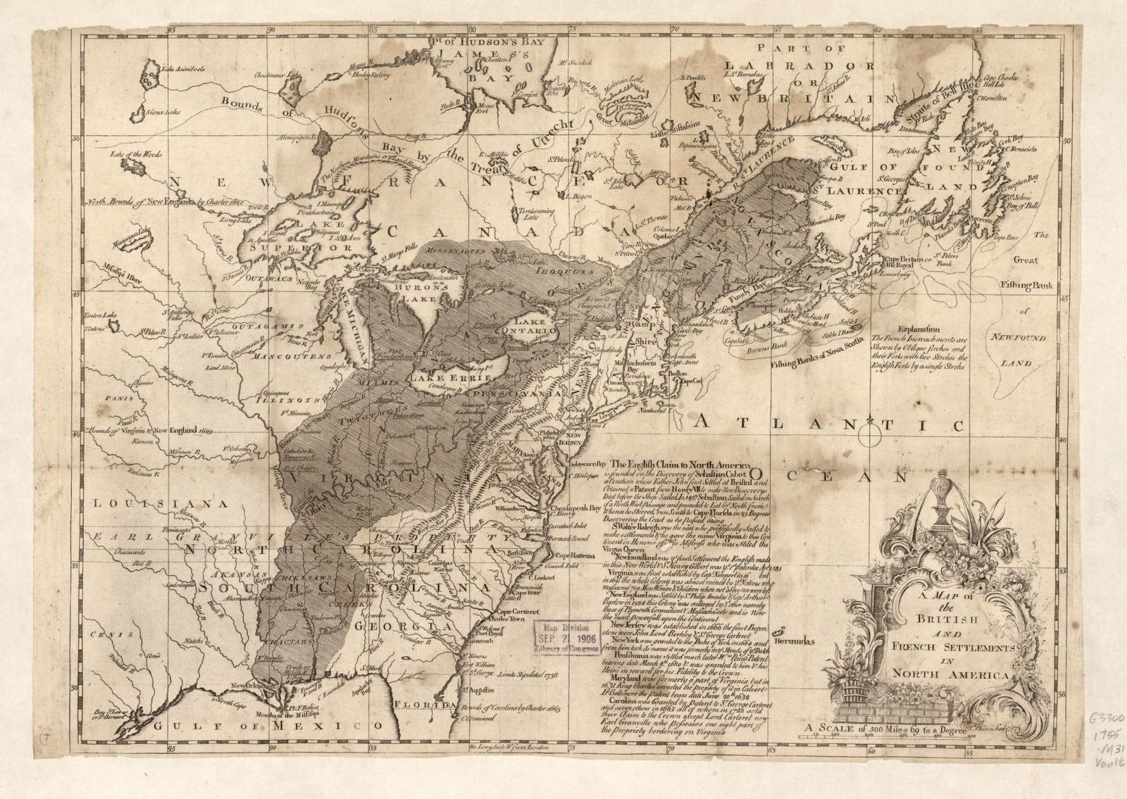 A map of the British and French settlements in North America /