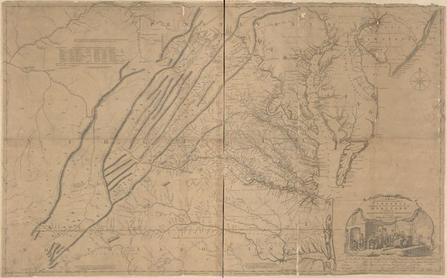 A map of the most inhabited part of Virginia containing the whole province of Maryland : with part of Pensilvania, New Jersey and North Carolina /