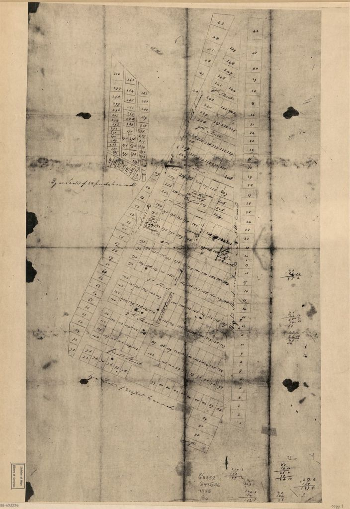 [Cadastral map of Beatty and Hawkins's addition to Georgetown, Washington D.C.].