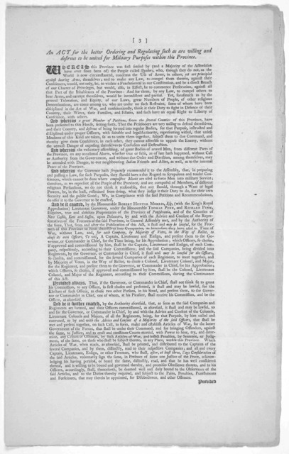 Copies of several publick papers, which have passed in the Province of Pensilvania in the month of November, 1755.