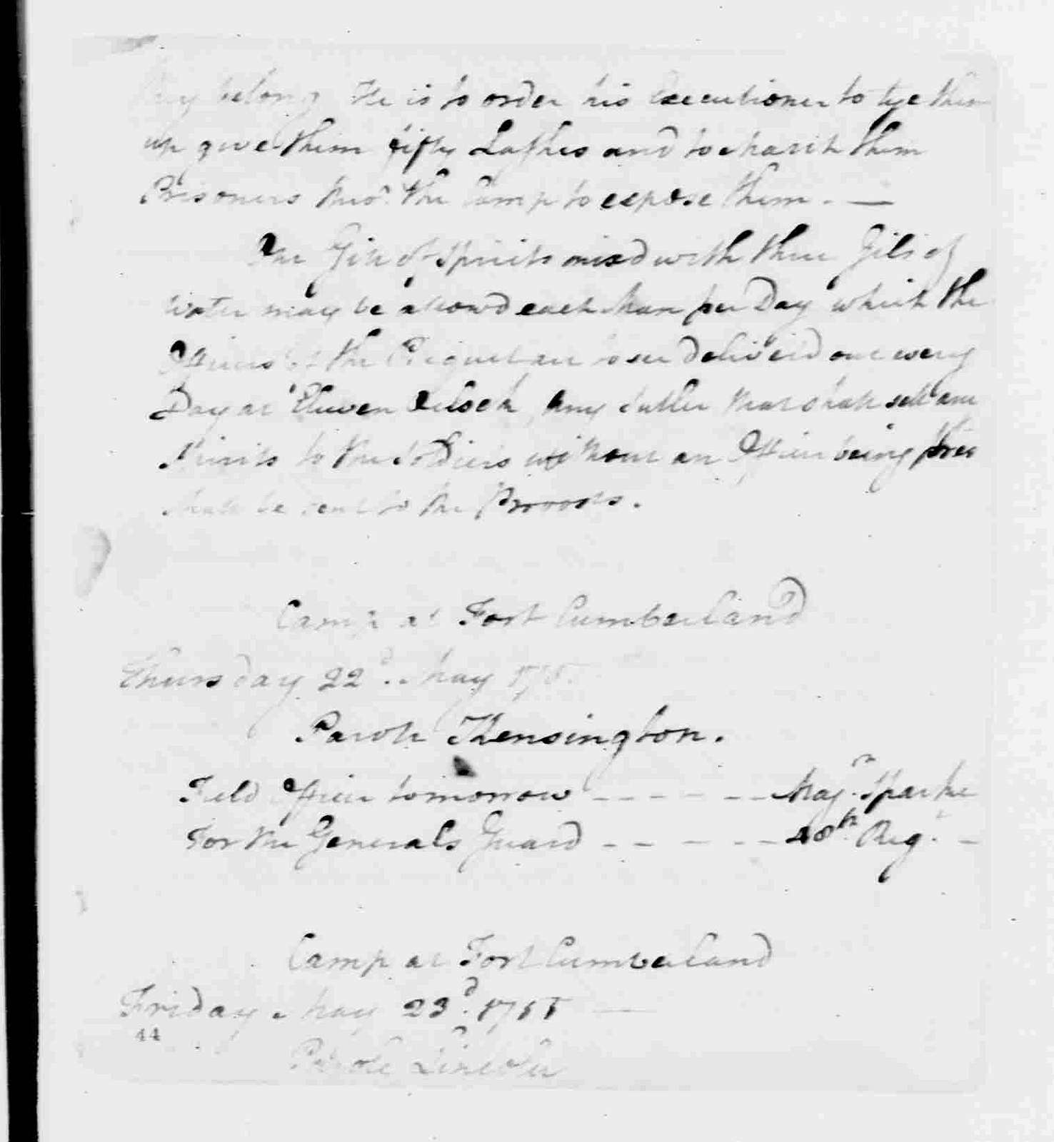 George Washington Papers, Series 6, Military Papers, 1755-1798, Subseries 6A, French and Indian War and the American Revolution, 1755-1783: British General Edward Braddock, Orderly Book, February 16-June 17, 1755