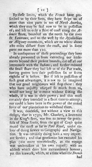 State of the British and French colonies in North America : with respect to number of peoples, forces, forts, Indians, trade and other advantages ... in two letters to a friend