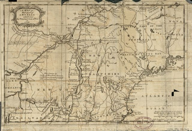 A map of that part of America which was the principal seat of war in 1756.