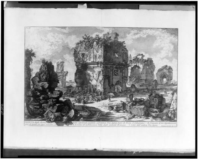 [Remains of a Roman sepulchre]