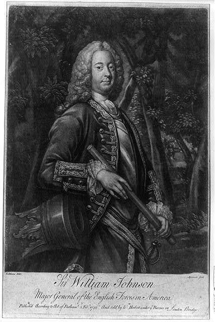 Sir William Johnson, Major General of the English forces in America / T. Adams, delin.; Spooner, fecit.