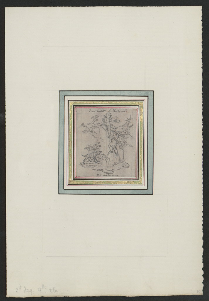 Drawings for the illustrations of Boccaccios Decamerone