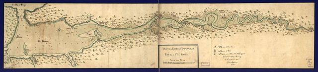 Plan of the river of Annapolis Royal in Nova Scotia.