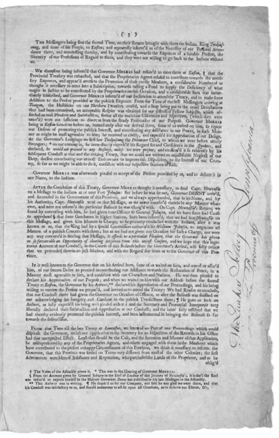 To Willam Denny, Esquire Lieutenant Governor and Commander in Chief of the Province of Pennsylvania, &c. The address of the trustees and treasurer of the Friendly association for regaining and preserving peace with the Indians by pacific measure