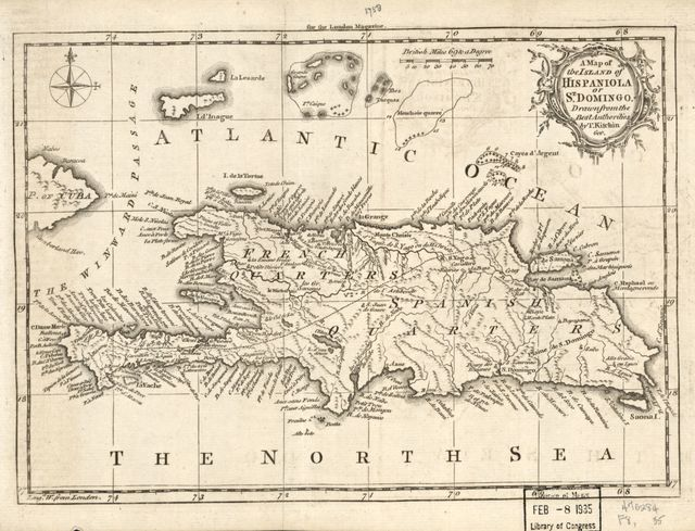 A map of the island of Hispaniola or St. Domingo /