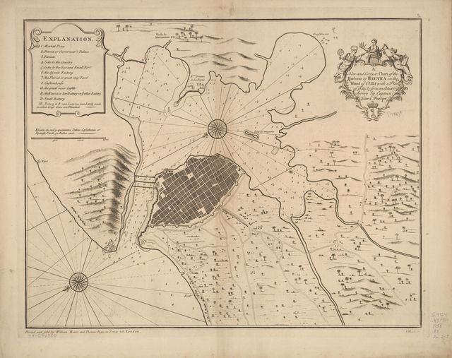 A new and correct chart of the harbour of Havana on the island of Cuba with a plan of ye city &c.